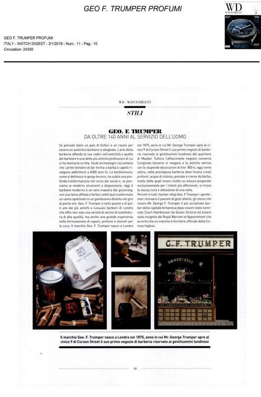 Geo F. Trumper su Watch Digest